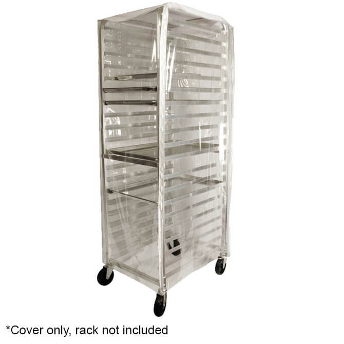 winco transparent plastic cover with zipper flaps for