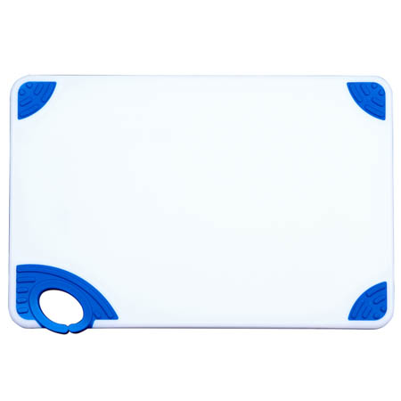 Winco Blue Cutting Board with Hook for Cooked Food