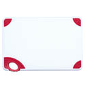 Winco Red Cutting Board with Hook for Meat