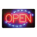 "Open Window Sign with Flashing LED Pattern 22"" x 13"""