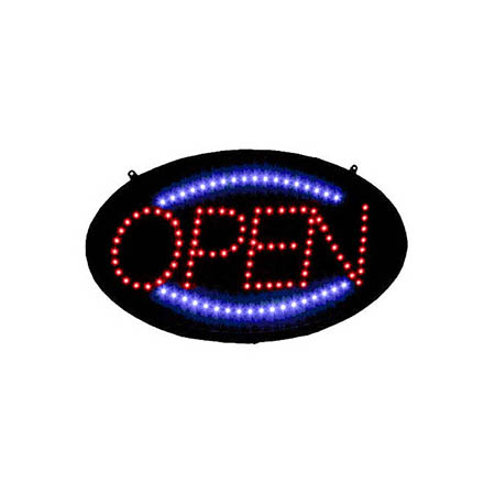 "Open Flashing LED Window Sign 23-3/4""  x 14"""