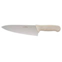 Winco Stal 8\x22 Chef Knife with White Handle