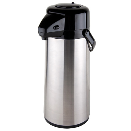 3.0 Liter Glass Lined Stainless Steel Airpot with Pump