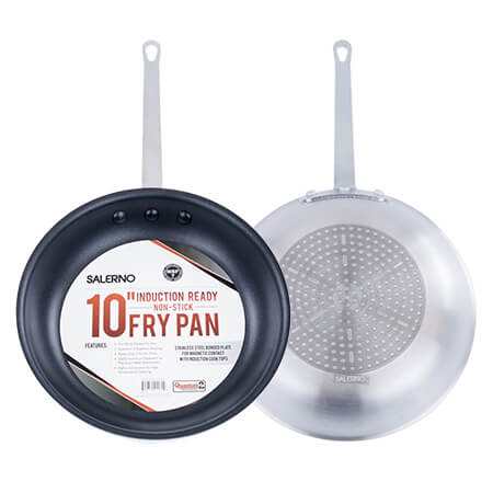 "Winco Induction Ready Non-Stick Aluminum Fry Pan 10"" x 2"""
