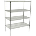 "Winco Chrome-Plated Wire Shelving Kit 24"" x 60"""