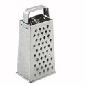 Stainless Steel 4-Sided Grater with Handle