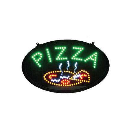 "Pizza Flashing LED Window Sign 23-3/4"" x 14"""