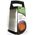 Winco Stainless Steel 5-Sided Grater with Soft Grip Handle
