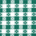 "Green Check Pattern Vinyl Tablecloth 52"" x 52"""