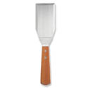 Stiff Stainless Steel Turner with Wood Handle 6\x22 x 3\x22
