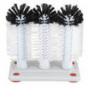 Winco 3-brush Manual Glass Washer