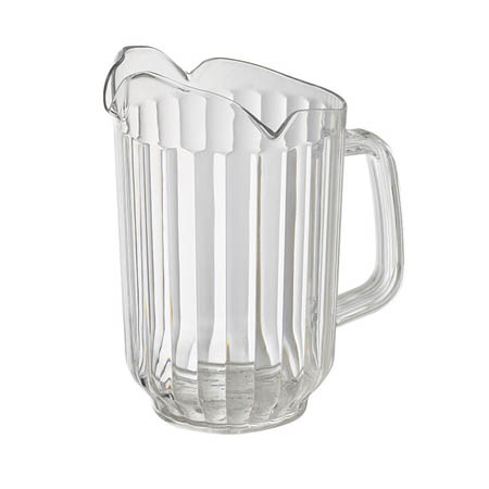 Winco 60 oz. Clear Poly Beverage Pitcher