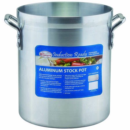 Winco 10-Quart Induction Ready Super Aluminum Stock Pot