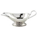 Winco 8 oz. Stainless Steel Gravy Boat