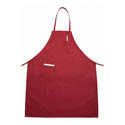 Winco 2-Pocket Full Length Red Bib Apron