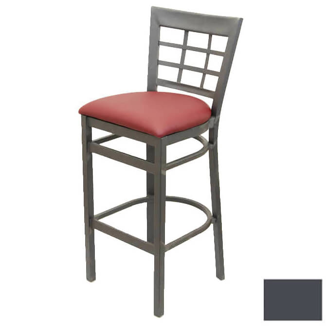 Modesto Graphite Gray Metal Window Back Bar Stool with  : MK9892Kl from www.equippers.com size 670 x 670 jpeg 19kB