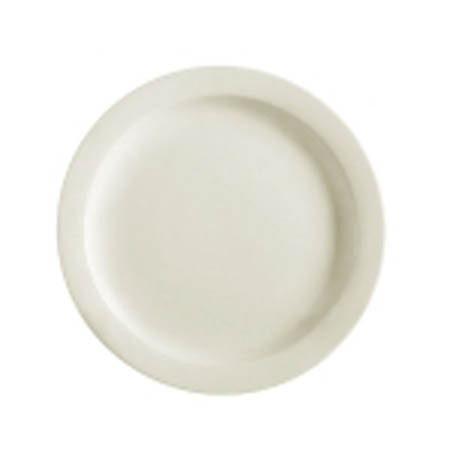 "MCIC Chelsea 10-1/2"" American White Narrow Rim Plate"