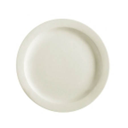 "MCIC Chelsea 9"" American White Rolled Edge Plate"