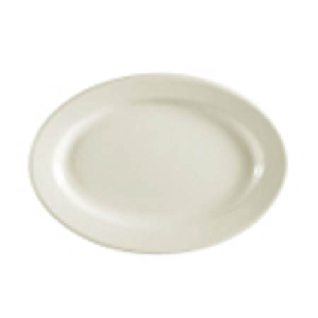 "MCIC Chelsea 9-3/8"" American White Rolled Edge Platter"