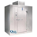Nor-Lake Self Contained with Floor Outdoor Walk-In Cooler 6' x 6 'x 7'7""