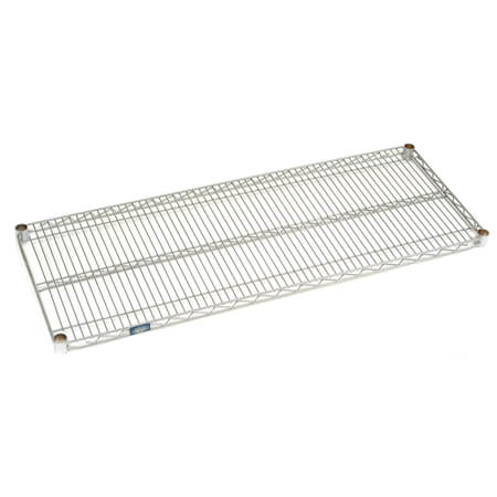 "Nexel Chrome-Plated Wire Shelving Section 24"" x 48"""