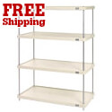Nexel Durable Solid Plastic Shelving Kits