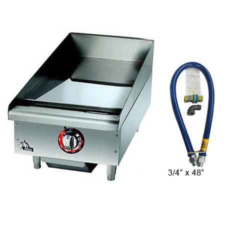 Star Manual Control Gas Griddle with $29 Dormont Quick Disconnect Hose Kit, a $155 value