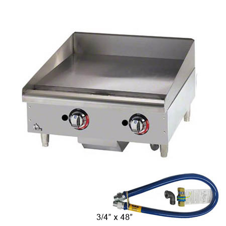 Star Thermostat Control Gas Griddle with $29 Dormont Quick Disconnect Hose Kit, a $155 value