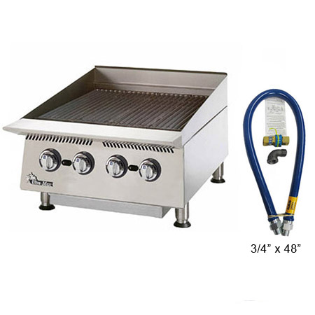 Star Ultra-Max Gas Radiant Charbroiler with $29 Dormont Quick Disconnect Hose Kit, a $155 value