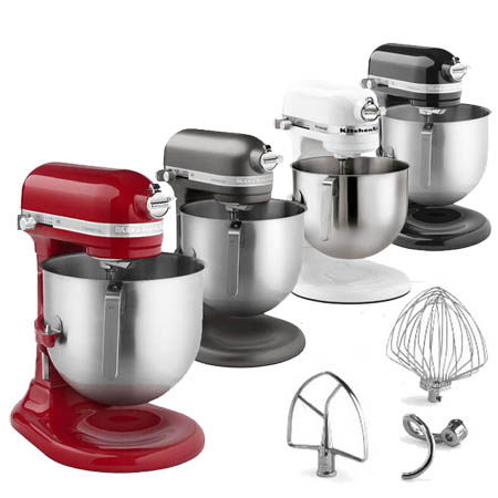 KitchenAid Refurbished 8-Quart Variable Speed 1.3 HP Commercial Stand Mixer with Accessories