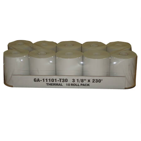 "R3 3-1/8"" Thermal 1-Ply Cash Register Tape Rolls 10-Pack"