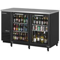 "Turbo-Air 19 cu. ft. Stainless Steel Top Back Bar Cooler with Glass Doors 58-3/4""W"