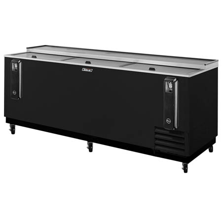 "Turbo-Air 38 Case Black Bottle Cooler 95""W"
