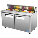 "Turbo-Air 16 Pan 2-Door Sandwich Prep Table 60-1/4""W"