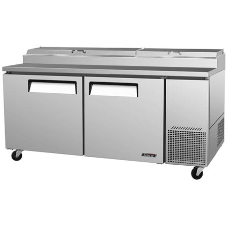 "Turbo-Air 20 cu. ft. 2-Door Pizza Prep Table 67""W"
