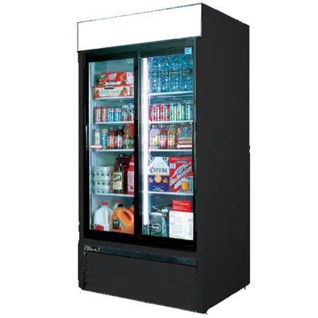 "Turbo Air 48 cu. ft. 2 Sliding Door Refrigerator Merchandiser 55-7/8""W"