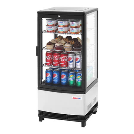 "Turbo-Air 3.0 cu. ft. Countertop Refrigerator Merchandiser 16-3/4""W"