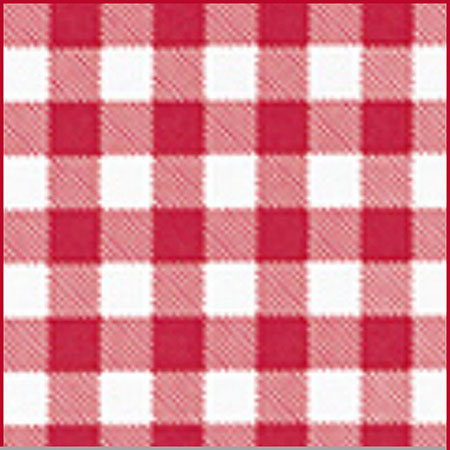 "4-Gauge Red Gingham Vinyl Tablecloth 15 Yards Long x 54""W Roll"