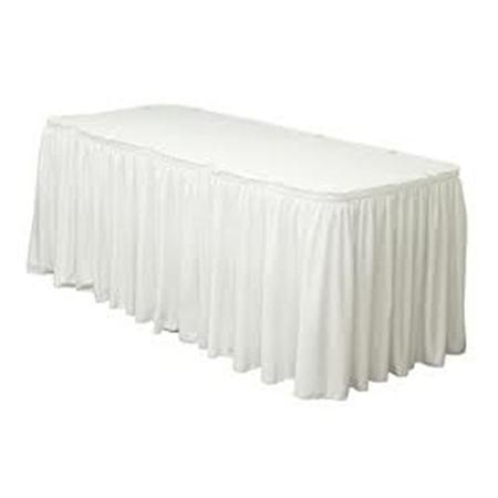 "White Twill Table Skirting 17-1/2'L x 29""H"