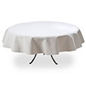 White Twill Tablecloth 88\x22 Round