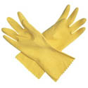 San Jamar Medium Latex Yellow Dishwashing Gloves 12-Pair