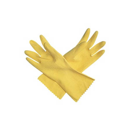 San Jamar X-Large Latex Yellow Dishwashing Gloves 12-Pair