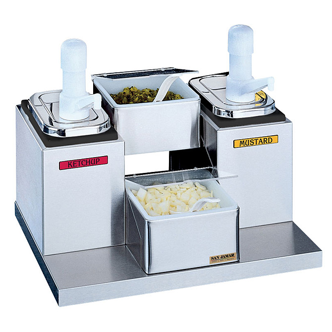 San Jamar Self Service Condiment Center With 2 Trays And Pumps