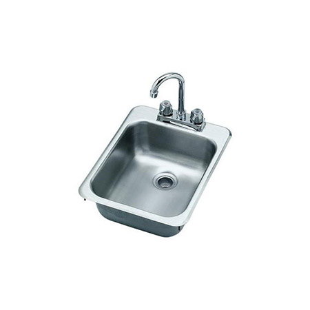 "Krowne 1-Compartment Drop-In Hand Sink with Faucet 13""W x 17""L x 5-1/2""D"