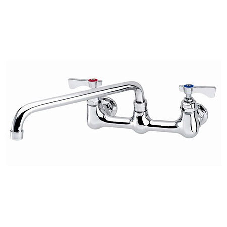 "Krowne 8"" Heavy Duty Center Wall Mount Faucet with 12"" Spout"
