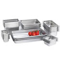 Anti-Jam Heavy Duty Stainless Steel Food Pans 22-Gauge