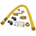 1\x22 x 48\x22 Quick Disconnect Gas Hose Kit with Restraining Cable and Shut-Off Valve