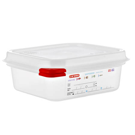 "Araven 1.2-Quart Polypropylene Food Storage Container 6-7/8"" x 6-3/8"" x 2-1/2"""