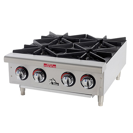 "Star 100,000 BTU 4-Burner Gas Hot Plate 24""W"
