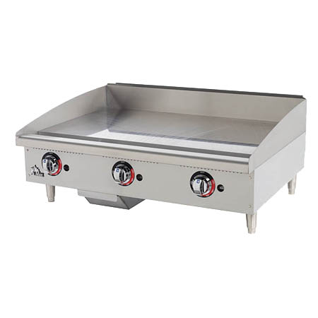 "Star 84,900 BTU Thermostat Control Gas Griddle 36""W"